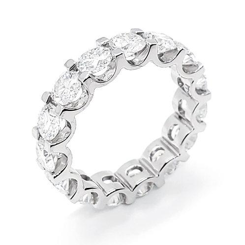 莫桑石18K戒指(共5.25卡)