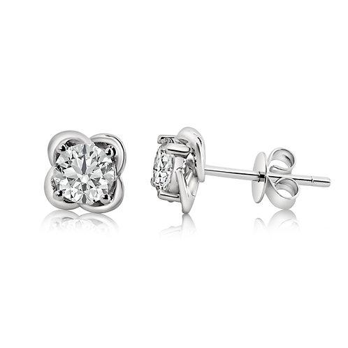 Moissanite earrings (1ctw)