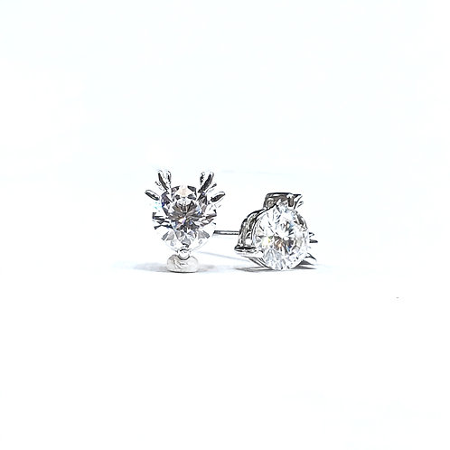 莫桑石18K耳環(共1卡)