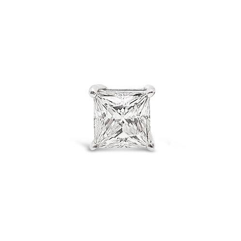 方形莫桑石耳環(單只0.5-1.5卡)