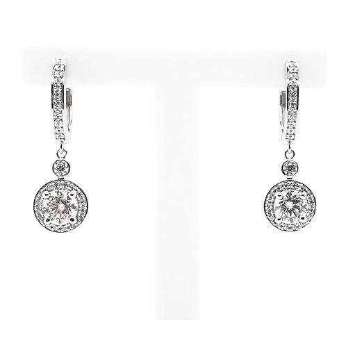 Moissanite earrings 1.3ctw
