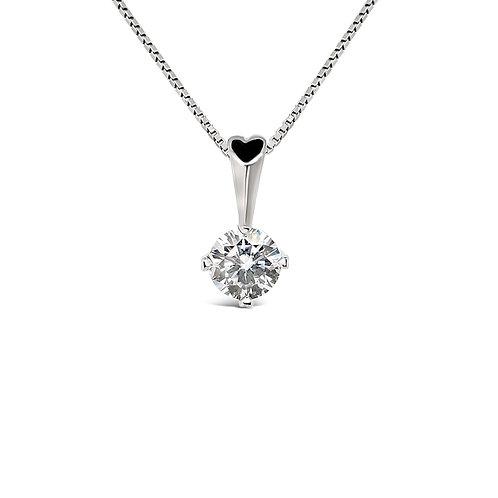 Moissanite 18K Necklace 0.5ct