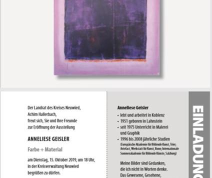 """Kunst im Kreishaus zeigt """"Farbe + Material"""""""