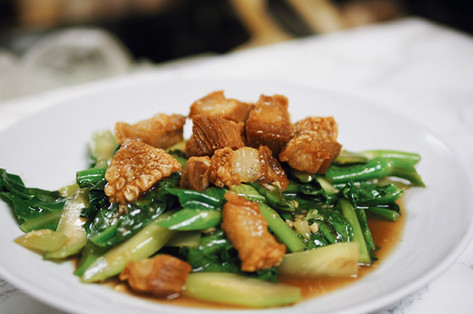 Cripsy Pork and Chinese Brocoli