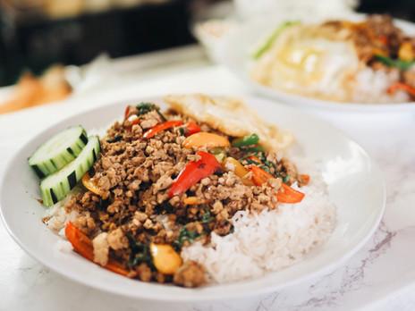 Pad Kra Praow over Rice