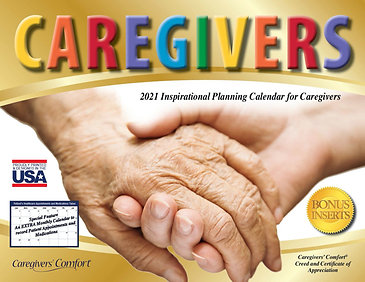 Printable 2021 Downloadable Caregivers' Comfort Calendar