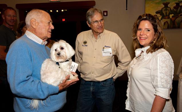 Bill Buchsbaum, Mentoring Kids Work; Seymour Wheelock, Lions Club Member; Lisa Harris Taos Fall Arts Festival.