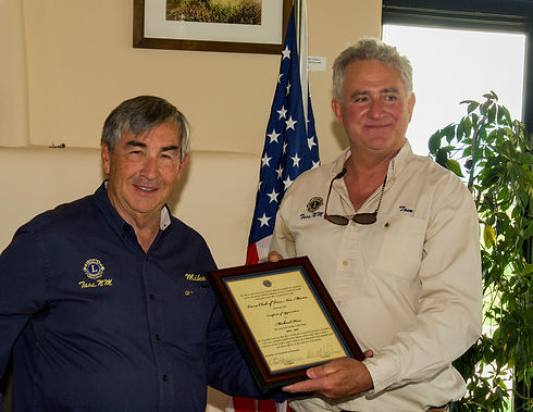 Lions Club of Taos Hess Luncheon Mike Hess Certificate Presentation.jpg