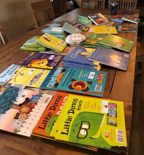 Books purchased by Tiwa Babies through the grant they received from Taos Lions Club.