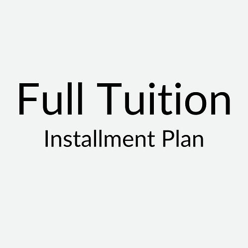 Full Tuition ($2,400 per course) Installment Plan