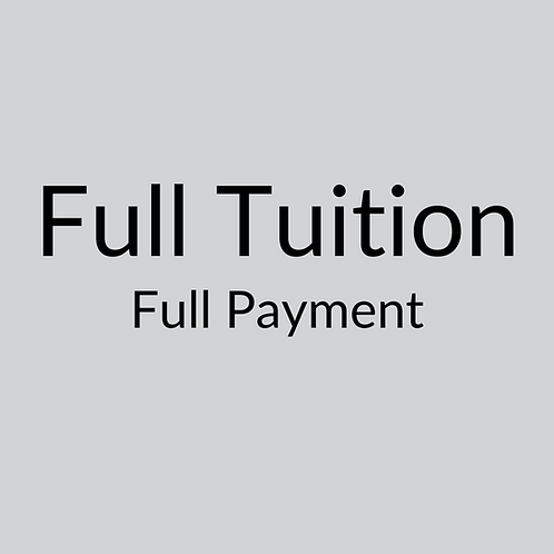 Full Tuition ($2,400 per course) Full Payment
