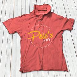 Pete's polo shirt