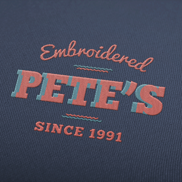 Pete's embroidery