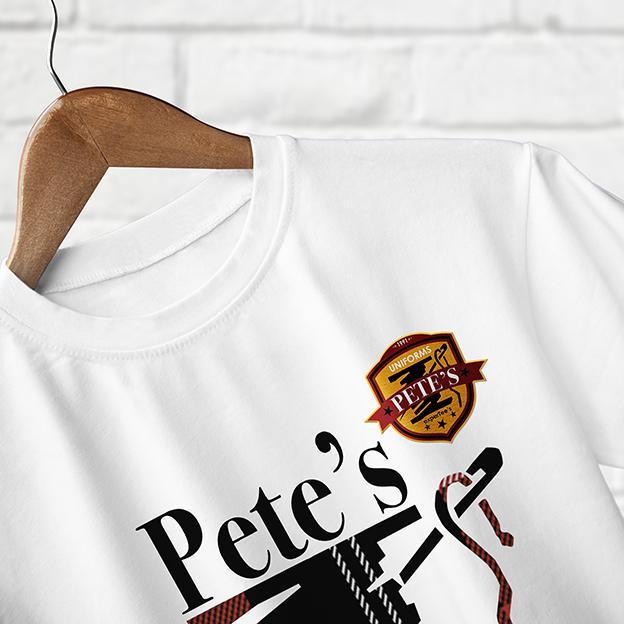Pete's tshirt mixed tecnique