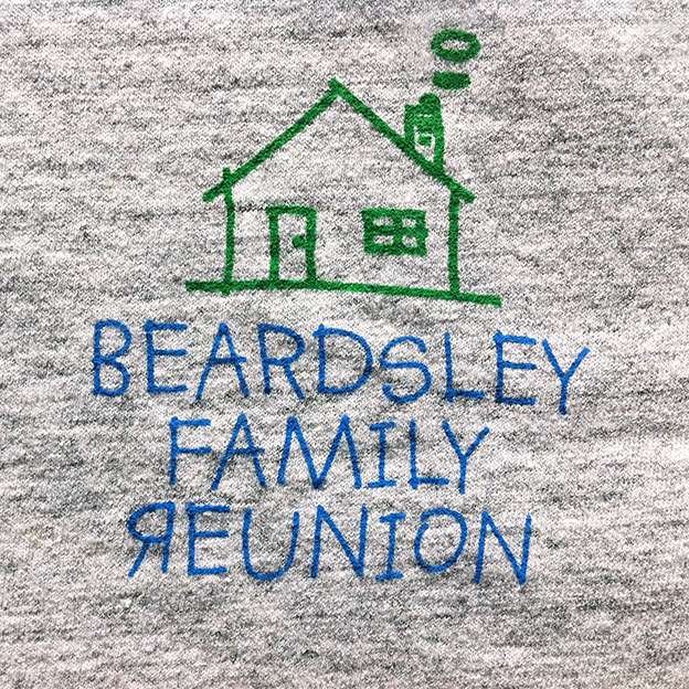 Pete's tshirt family reunion detail