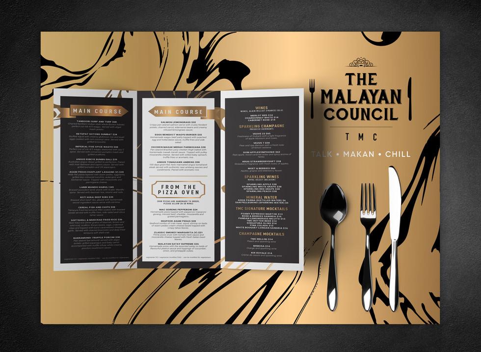 TMC Menu & Table Placemat
