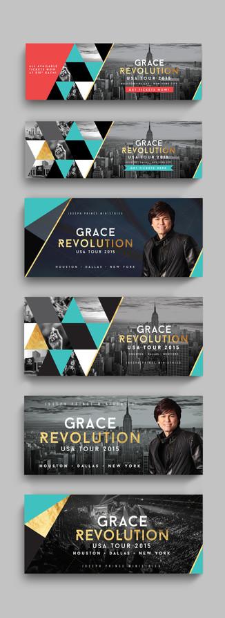 Grace Revolution Tour Banners
