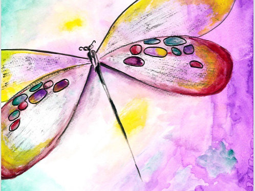 """Dragonfly"" 5x7 Greeting Card"