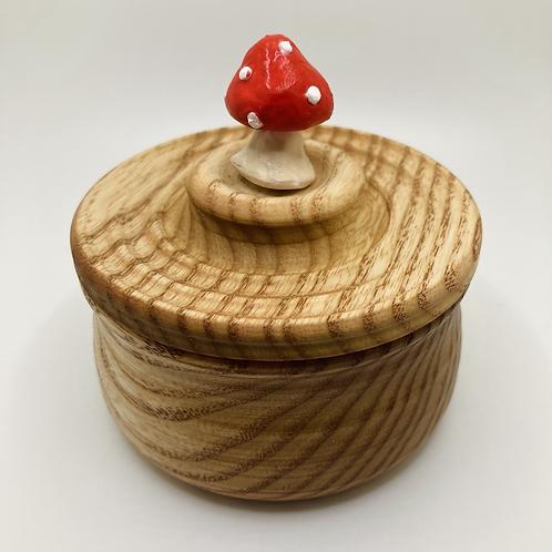 Anni & John Collab - Ash wood Salt Cellar with mushroom knob