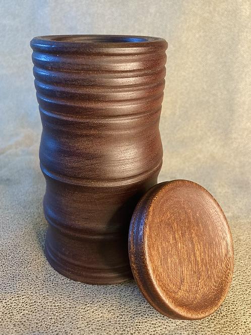 John - Small Sapele canister