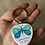 Thumbnail: Hand Painted Butterfly Keychain