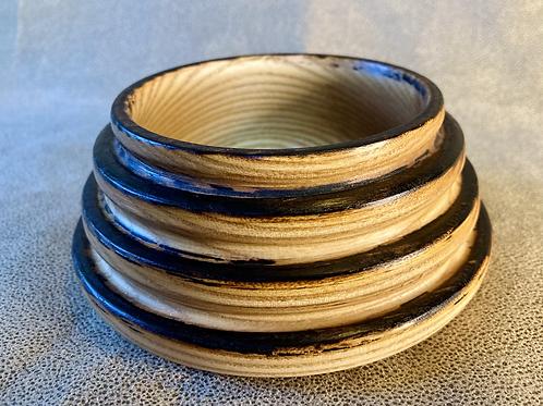 John - Small Ash Bowl with Char detail