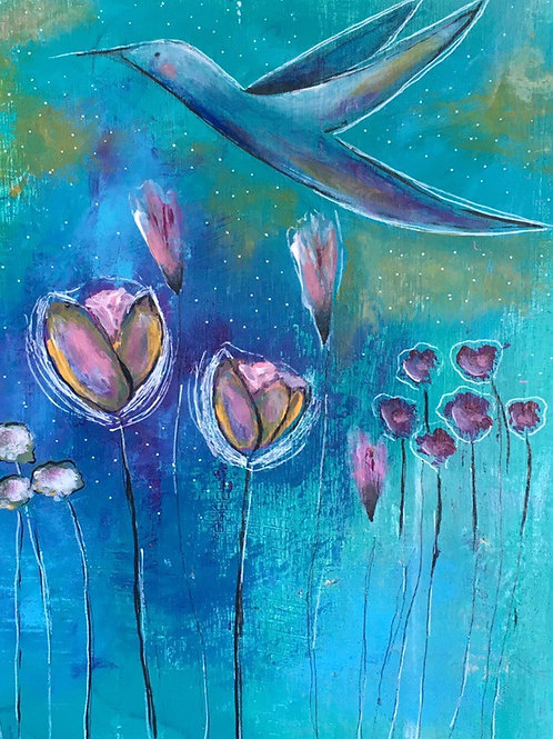 """Hummingbird"" 5x7 Greeting Card"