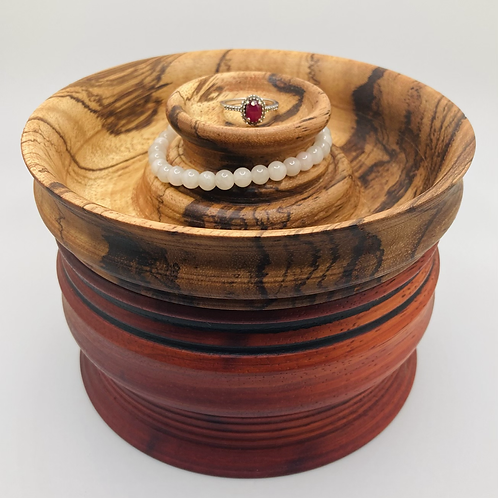 John - Large Jewelry Canister with Jewelry Tray Lid