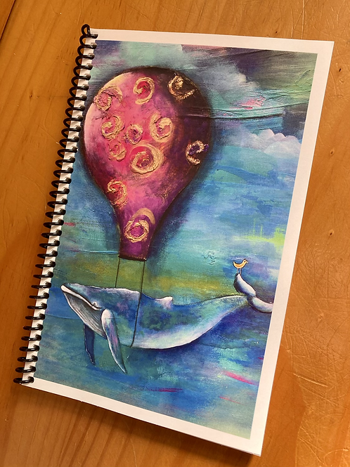 Lined Whale Journal- Joy Ride