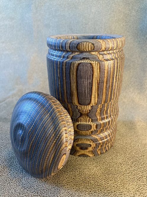 """John - """"Coffee Color"""" Two Toned Pine canister"""