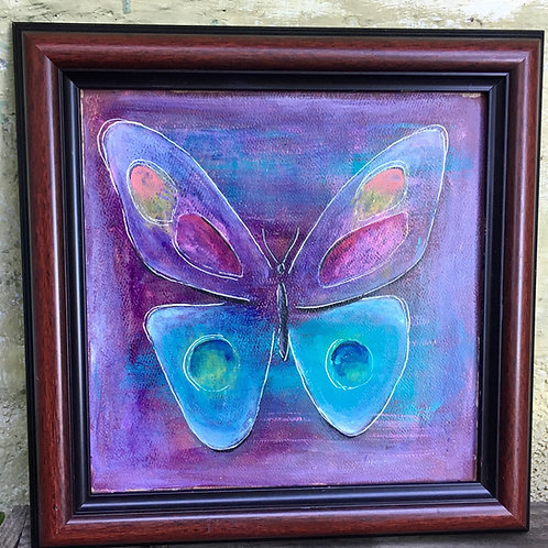 """Take Flight"" original framed acrylic painting on canvas"