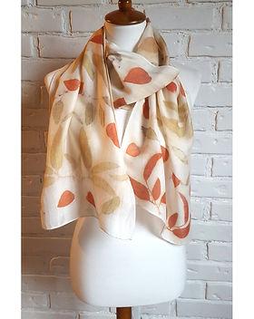 eucalyptus eco print orange silk.jpg