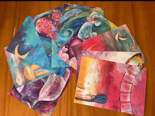 Mini Print Postcards - Set of 10
