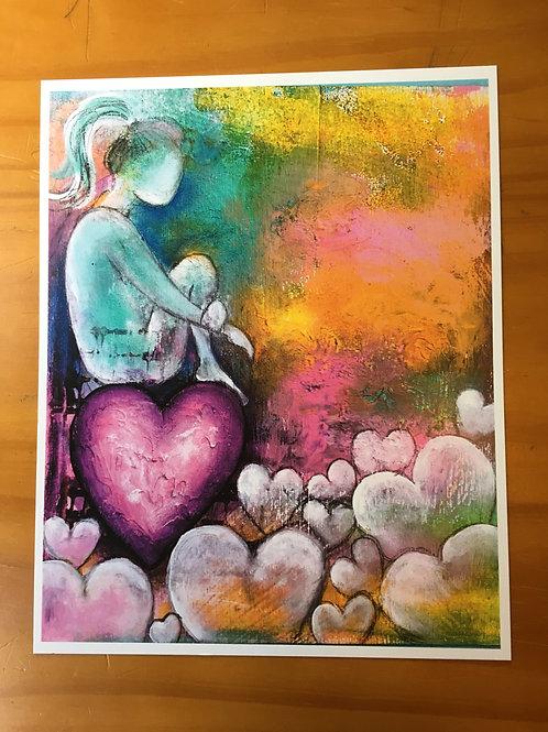 """8x10 Print - """"Lean into Love"""""""