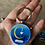 Thumbnail: Hand Painted Crescent Moon Keychain