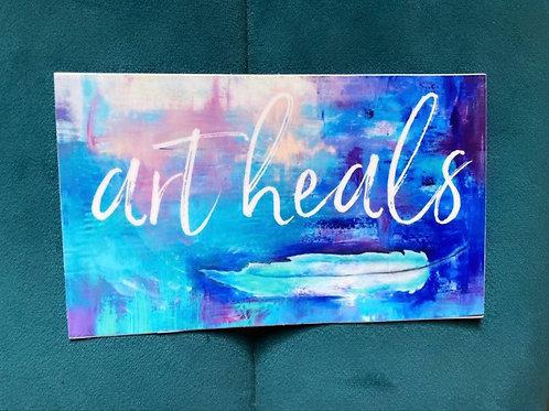 """Art Heals"" stickers"