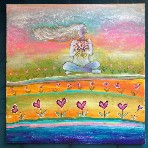"Anni - ""The Love We Keep"" 12x12 Acrylic Painting"