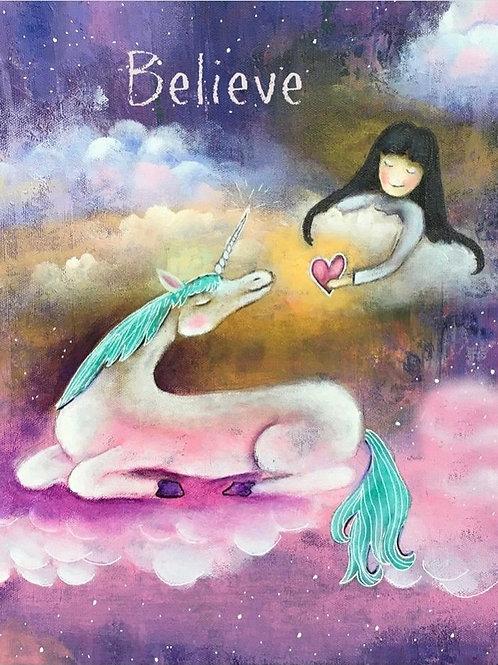 "Unicorn ""Believe"" Print"