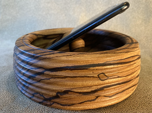 John - Zebra Wood Smart Phone Amplifier