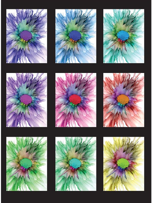Greeting Cards first flower hue change