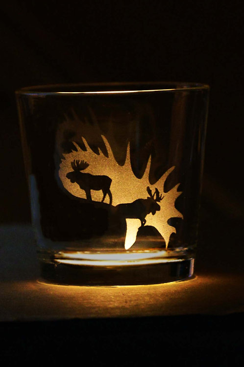 Engraved Wiskey Glasses Hunting Themed