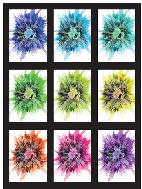 Fairy Flower hue change greeting card