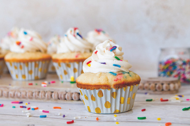 Funfetti Cupcakes, The Fancy Pants Kitchen for the Pinewood News