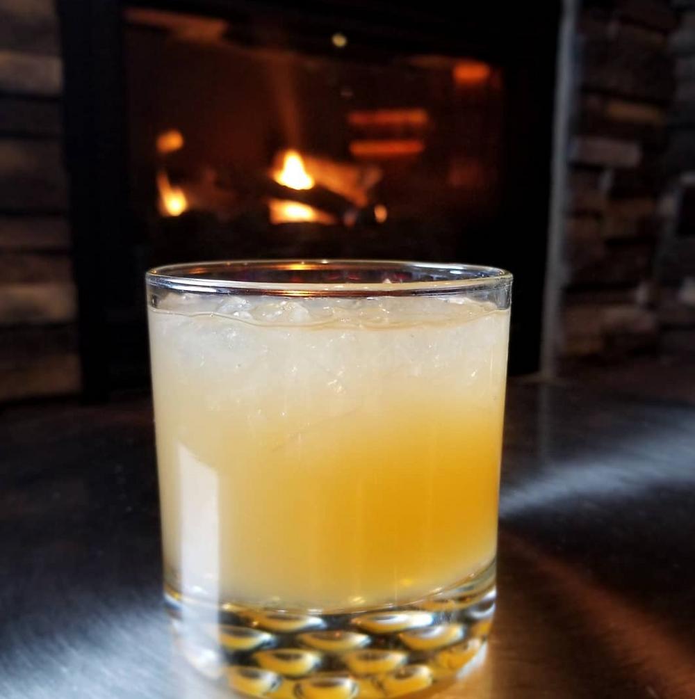 Apricot & Honey Bourbon Sour Munds Park Stories