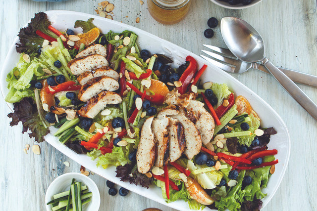 Grilled Chicken and Orange Summer Salad, The Fancy Pants Kitchen for the Pinewood News