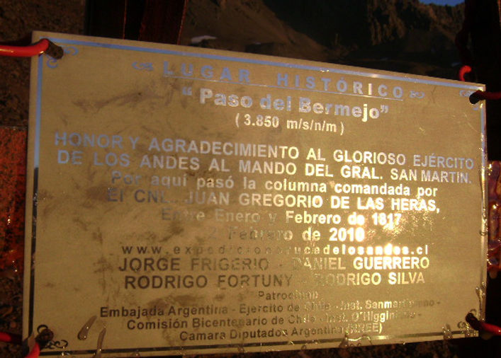 Paso del Bermejo. Cruce de Los Andes.