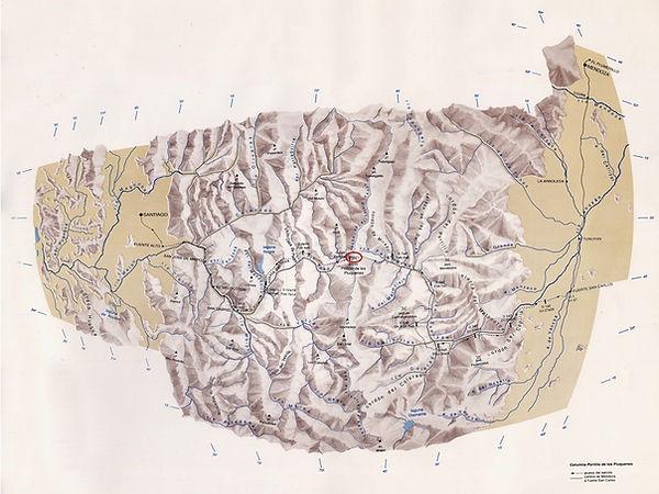 Mapa Paso Portillo de los Piuquenes