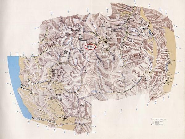 Mapa paso Los Patos