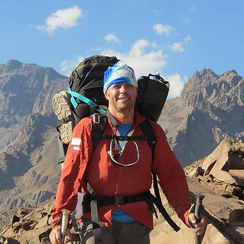 1er montañista argentino en realizar a pie los 6 pasos del ejercito de los andes. jorge frigerio. cruce de los andes.