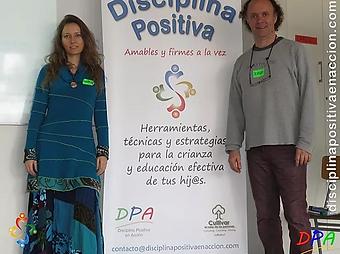 Educadores en disciplina positiva Maven Lomboy y Jorge Frigerio